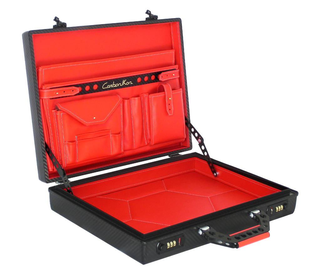Briefcase Carbon 2w Red